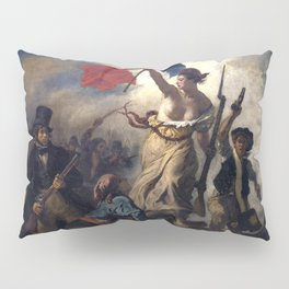 Liberty Leading the People by Eugène Delacroix (1830) Pillow Sham