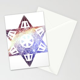 Metatron's Cube Time Wheel ~ Prawn Nebula Stationery Cards