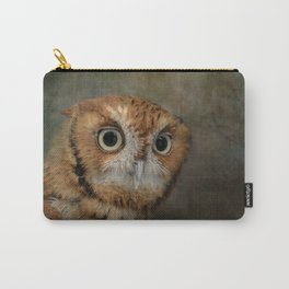 Portrait of An Eastern Screech Owl Carry-All Pouch
