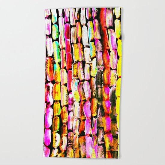 Orange Sugarcane Beach Towel