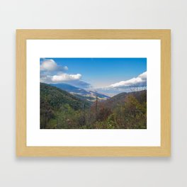 Blue Ridge Peaks Framed Art Print