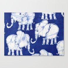 Batik Elephants Canvas Print