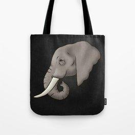 Elephant Ivory Tote Bag