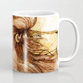 Une Crinière de Lion (the haughty and brilliant lion) Coffee Mug