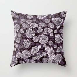 sempervivum-pattern Throw Pillow