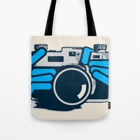 cheese Tote Bags featuring Cheese by Sei Rey Ho