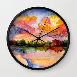 Foliage Reflections Wall Clock