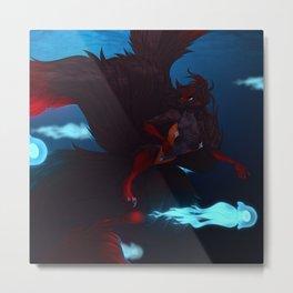 JellyFish Swim Metal Print