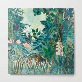 Wildlife in Tropical Jungle Painting Metal Print