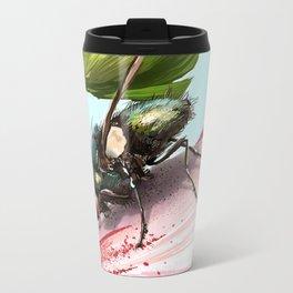 Fly on a flower 15 Metal Travel Mug