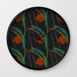 Nightlife in Red, Green and Amber Wall Clock