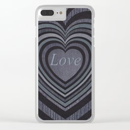 Loving hearts  decollage Clear iPhone Case