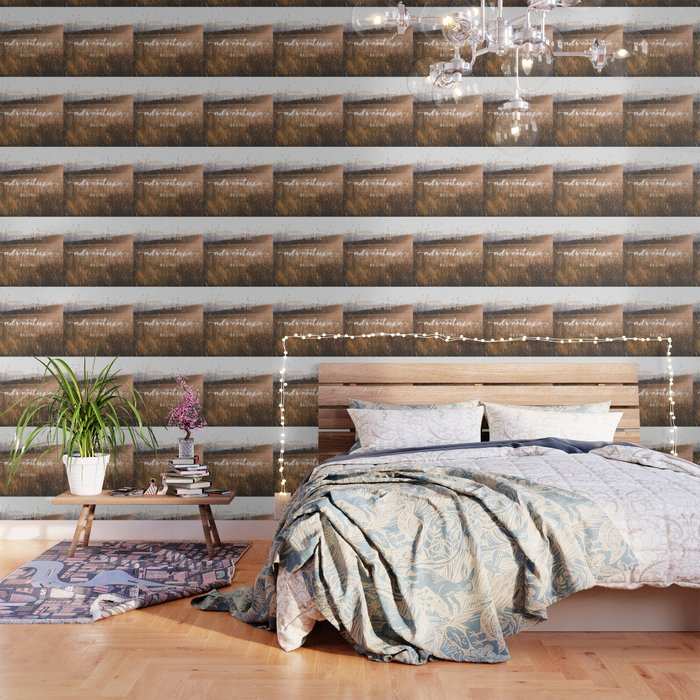 And So The Adventure Begins - Rustic Western Wallpaper