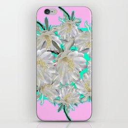 NIGHT BLOOMING TROPICAL CEREUS CACTI ART iPhone Skin