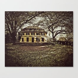 we view the dead from here. Canvas Print