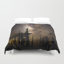 Mountain Milky Way Duvet Cover