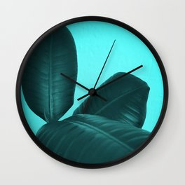 Ficus Elastica #3 #art #society6 Wall Clock