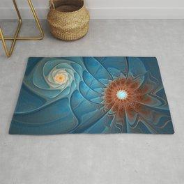 Together, Abstract Fantasy Fractal Art Rug