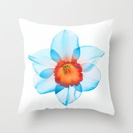 narcissus poeticus (feeling turquoise) Throw Pillow