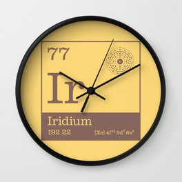 Periodic Elements - 77 Iridium (Ir) Wall Clock