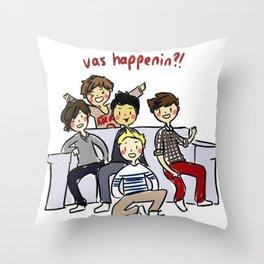 One Direction 'Vas Happenin' Cartoon Throw Pillow