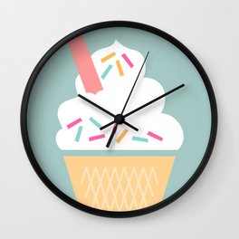 Ice Cream (Mint) Wall Clock