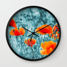 Red Poppy/ Roter Mohn Wall Clock