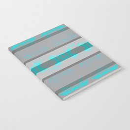 Southwestern Turquoise and Gray Notebook