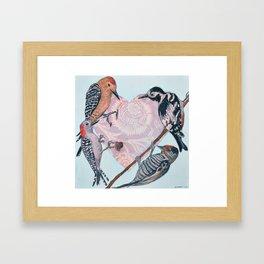 Woodpecker Heart Gerahmter Kunstdruck