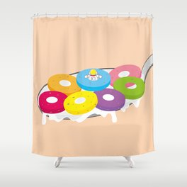 Space Odyssey | Astronaut Froot Loops | Space | Food | Breakfast | pulps of wood Shower Curtain