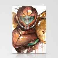 samus Stationery Cards featuring Samus by Alonzo Canto