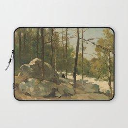 Wooded View near Barbizon - Johan Hendrik Weissenbruch (1900) Laptop Sleeve