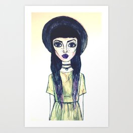Watercolor Lady Art Print