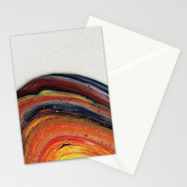 Vibrant Acrylic Pour Painting Stationery Cards