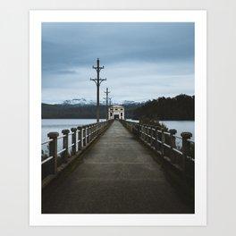 Pumphouse Point, Lake St Clair - Tasmania Art Print