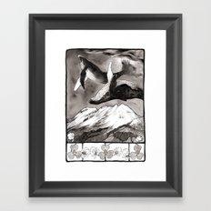 lunar whales Framed Art Print
