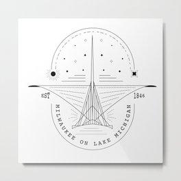 Milwaukee Skyline Line Art Metal Print