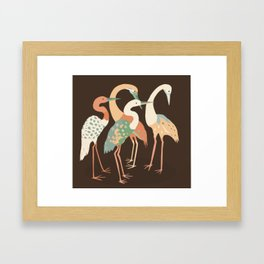Cranes (Digital Illustration) Framed Art Print