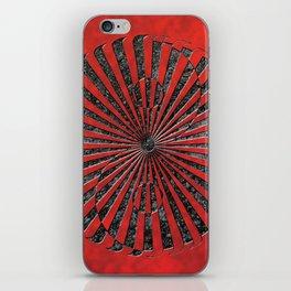 yin yang stone red iPhone Skin