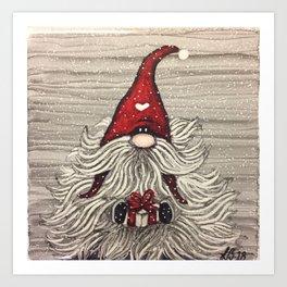 """""""Tomten Elmer"""" with a big beard. Art Print"""