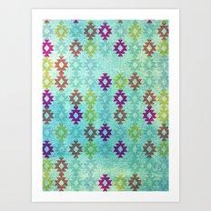 Santa Fe Dreams Geometric Aztec Colorful Design Art Print