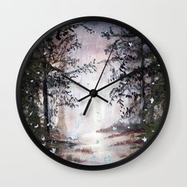 Ghosts in the mountains Wall Clock