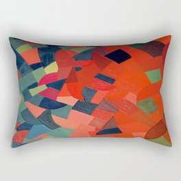 Grün-Rot Otto Freundlich 1939 Abstract Art Mid Century Modern Geometric Colorful Shapes Hard Edge Rectangular Pillow