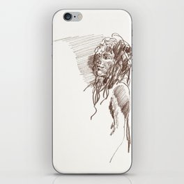Button nose iPhone Skin