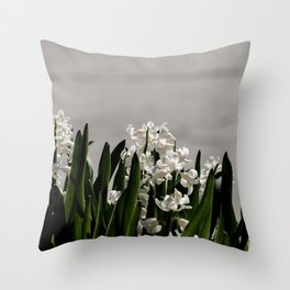 Hyacinth background Throw Pillow