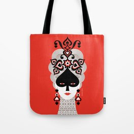 The Queen of spades Tote Bag