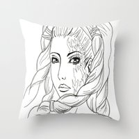 shiva Throw Pillows featuring Shiva by Laura Bou