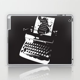 Ernest Hemingway Quote Laptop & iPad Skin