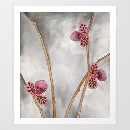 Three Pinks Art Print