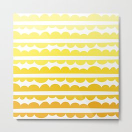 Mordidas Gradient Yellow Metal Print